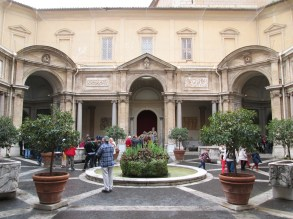 Courtyard in one of the museums.