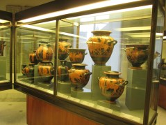A small sample of the collection of Etruscan pottery and artifacts.