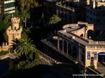 Jardines de la Almudaina, Torre del Caps y edifico de la Fundación Bartolomé March junto a la Plaza de la Reina