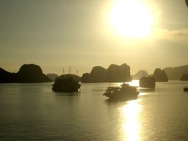 Sunrise in Halong Bay. Photo Nadia Krige