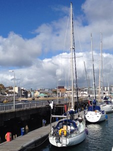 On the berth at Plymouth