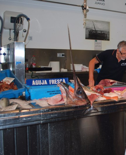 The guy to see about fresh swordfish!