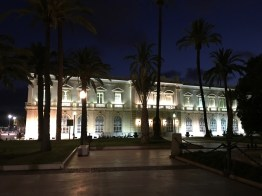 Customs House, Cartagena, by Night