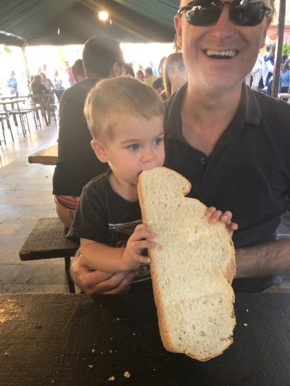 Bread as big as Hugo!