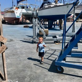Boatyards are (dirty, chemical-filled) playgrounds!