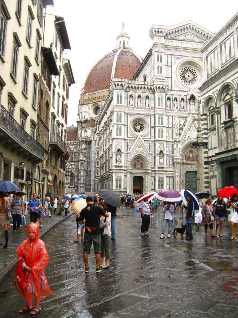 Katedra, Florencja w deszczu