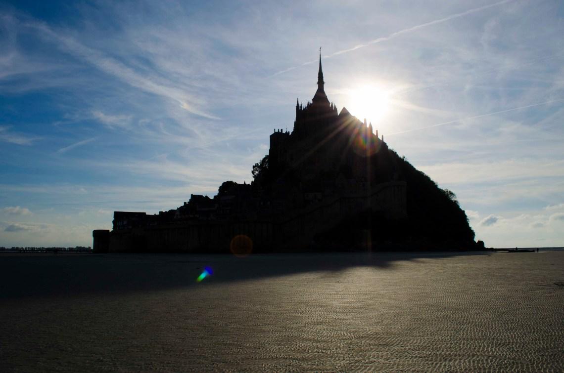 Sylwetka Mont Saint Michel