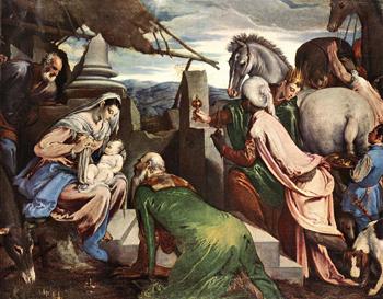L'adoration des Mages; Jacob BASSANO