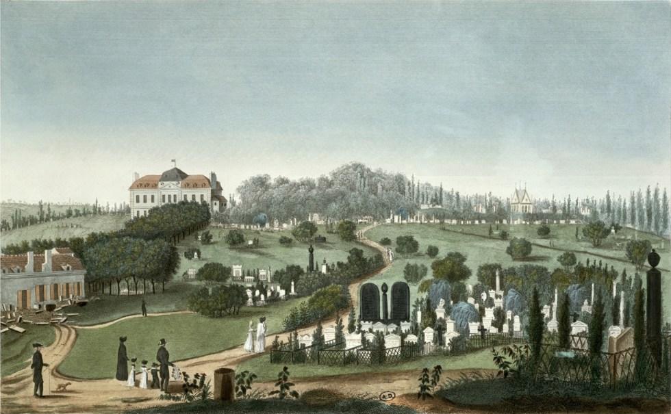 Cimetière Père-Lachaise vue 1815