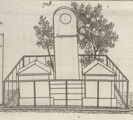 La tombe Jacquemart en 1817