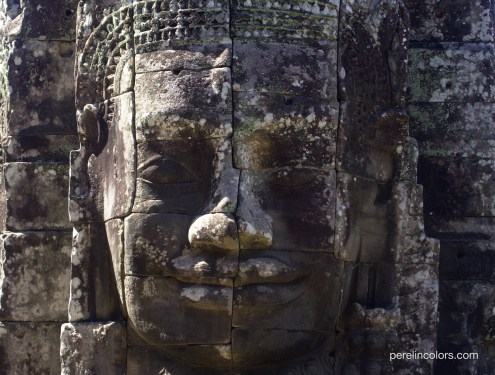 A smile in the Bayon temple.