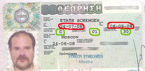 шенген однократная