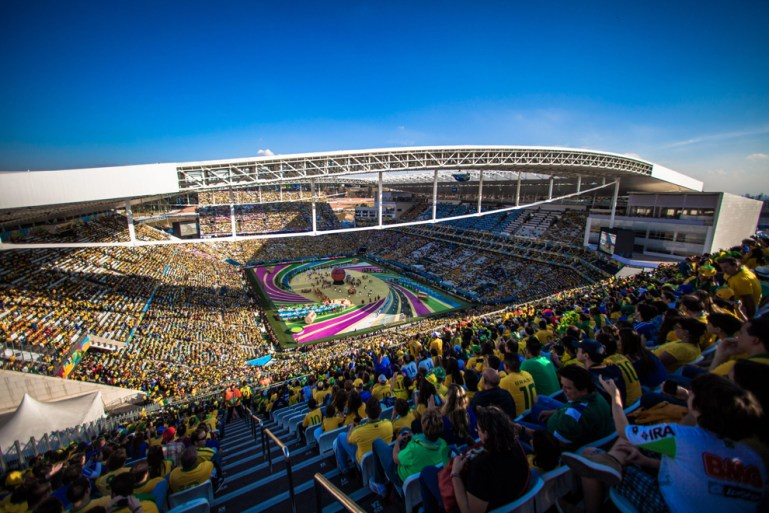 Opening day of the 2014 World Cup in Brazil