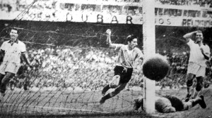 Uruguay won the 1950 final 2-1.