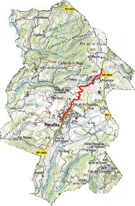 mapa camí ral