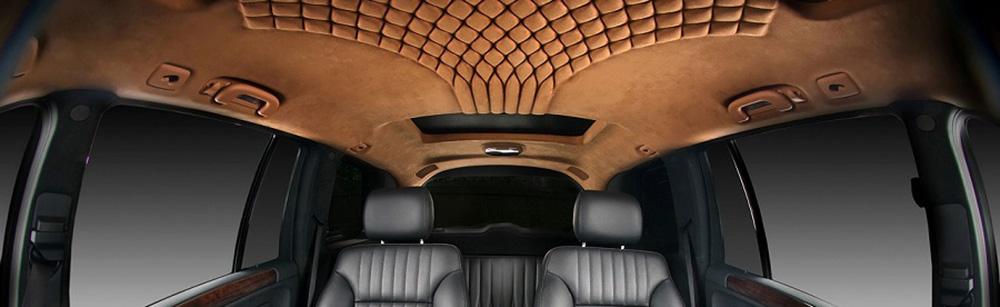 перетянуть потолок авто в дизайне