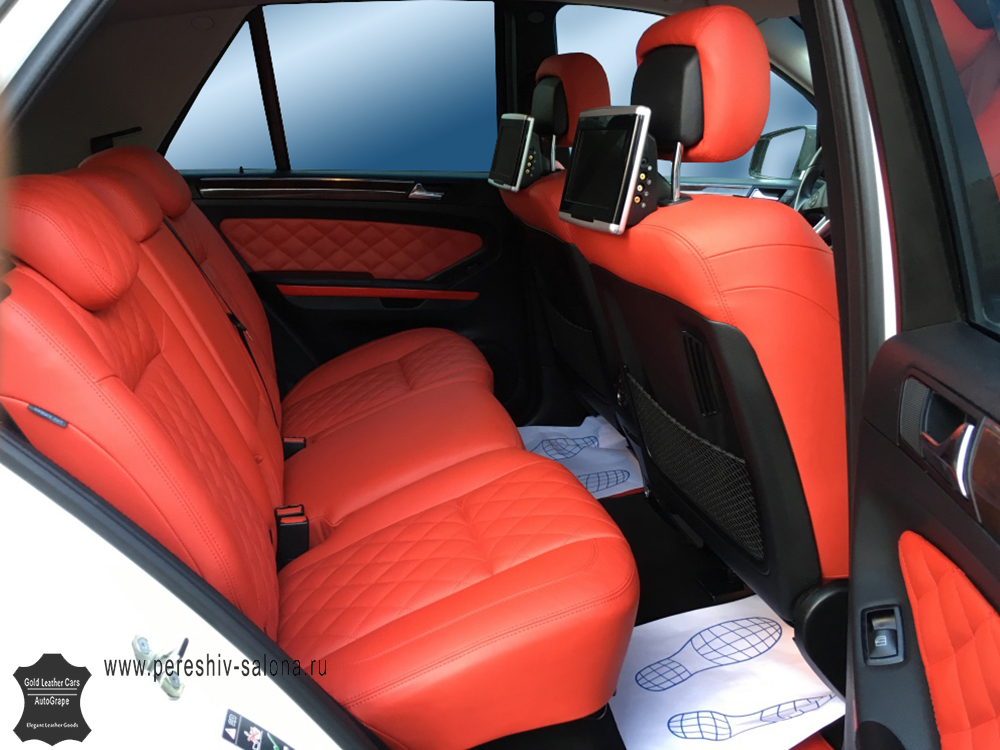 Перетяжка кожей салона Mercedes AMG ML