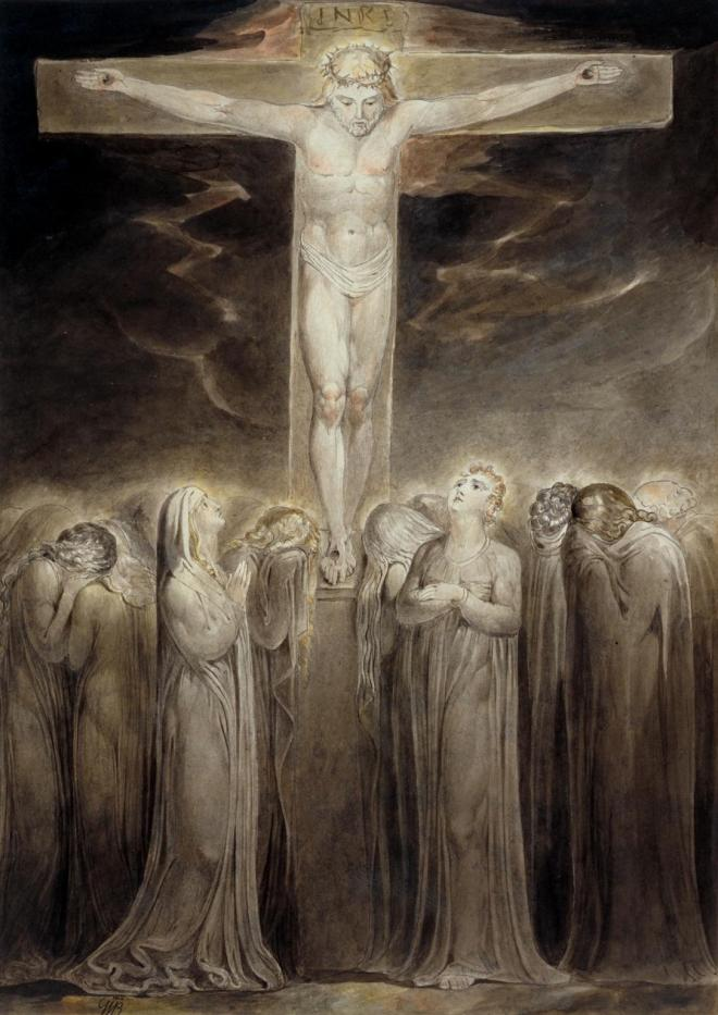 The Crucifixion: 'Behold Thy Mother' c.1805 William Blake 1757-1827 Presented by the executors of W. Graham Robertson through the Art Fund 1949 http://www.tate.org.uk/art/work/N05895