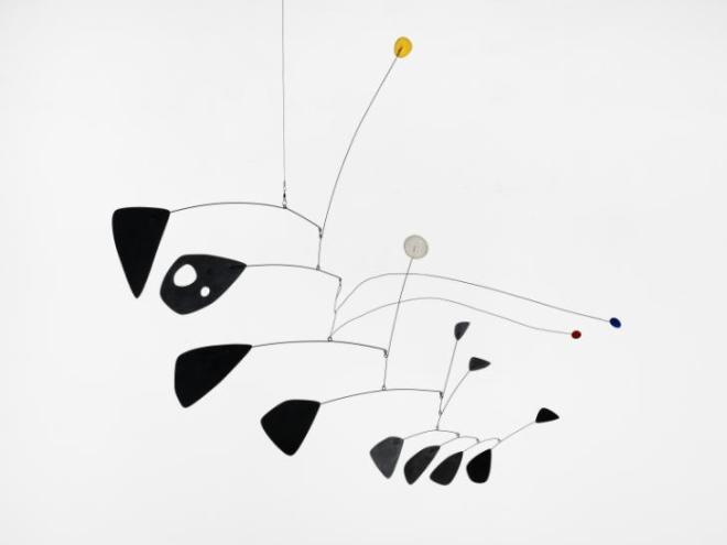 Antennae with Red and Blue Dots c.1953 Alexander Calder 1898-1976 Purchased 1962 http://www.tate.org.uk/art/work/T00541