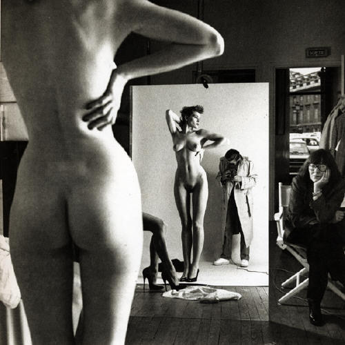helmut-newton-self-portrait-with-wife-and-models-1981