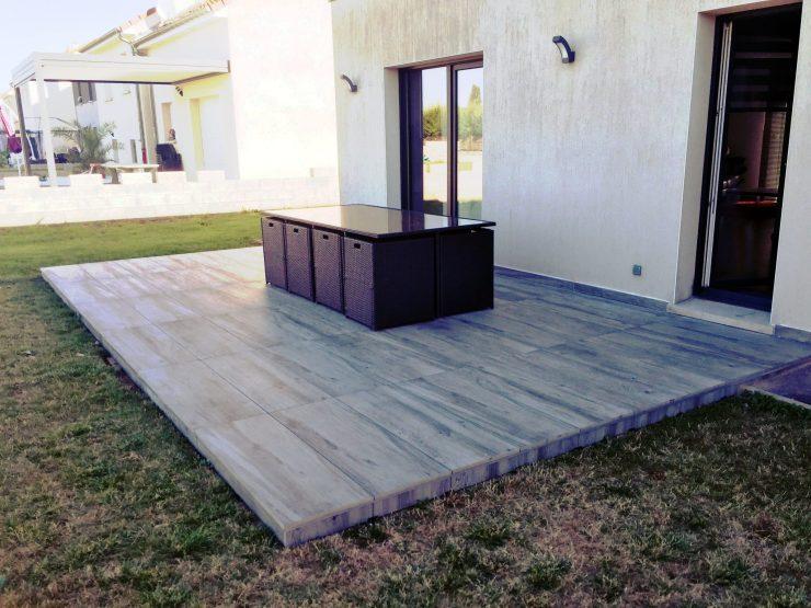 Terrasse sur Plots 4 - PEREZ Carrelages & Marbrerie - Augny 57685