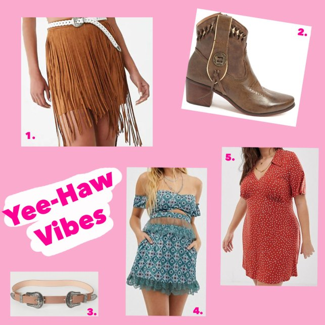 Coachella western looks for less