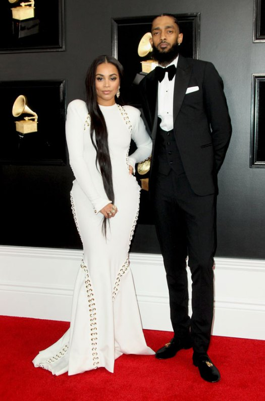Nipsey Hussle and Lauren London at the Grammys.