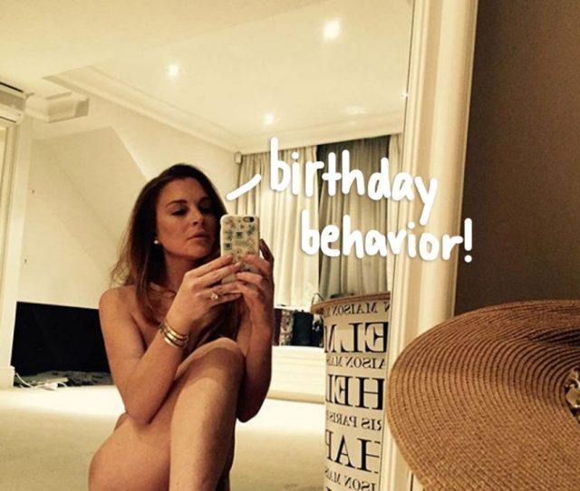 Lindsay Lohan Celebrates Turning  With A Sexy Selfie In Her