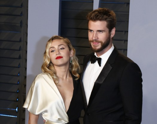 Miley Cyrus and ex Liam Hemsworth