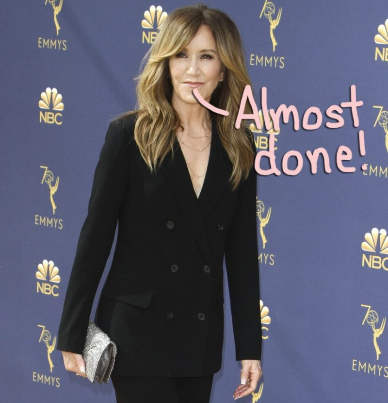 Felicity Huffman Photographed In Prison Jumpsuit During Family Visit - Look! - Perez Hilton