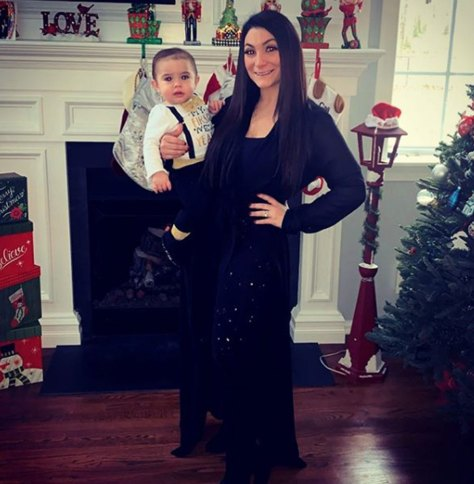 Deena Cotese poses with her son CJ