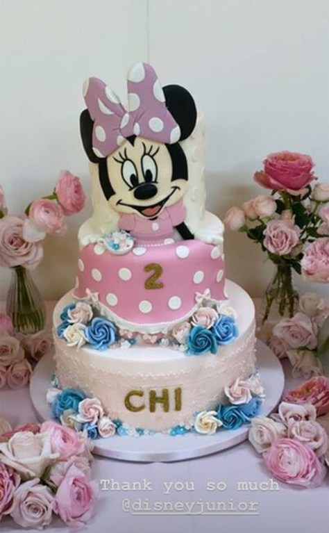 Chicago West birthday highlights Minnie Mouse cake