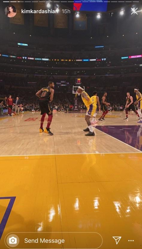 Kim Kardashian Tristan Thompson basketball game booing video