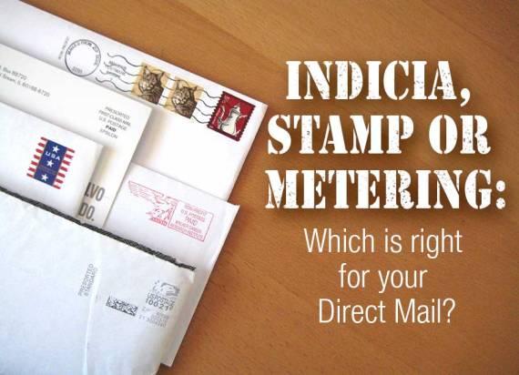 indicia, stamp or metering