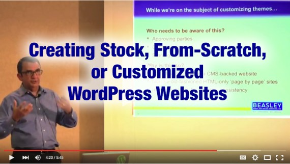 Creating Stock, from Scratch, or Customized WordPress Websites