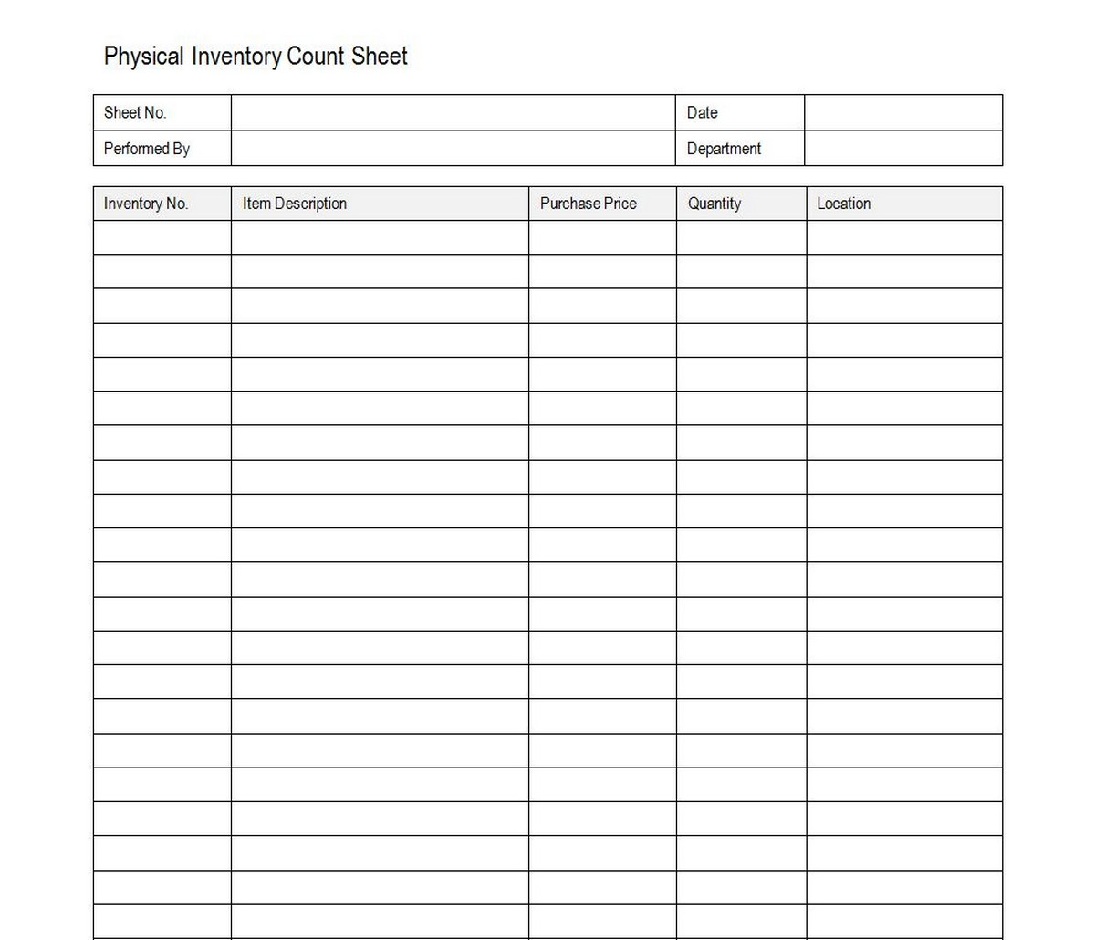 The Best Printable Liquor Inventory Sheets