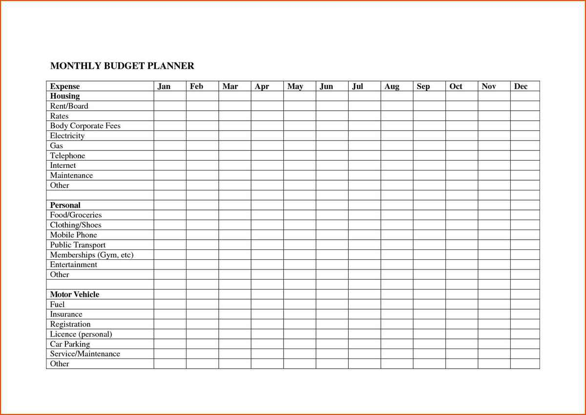 Monthly Expenses Spreadsheet Template Free Spreadsheets