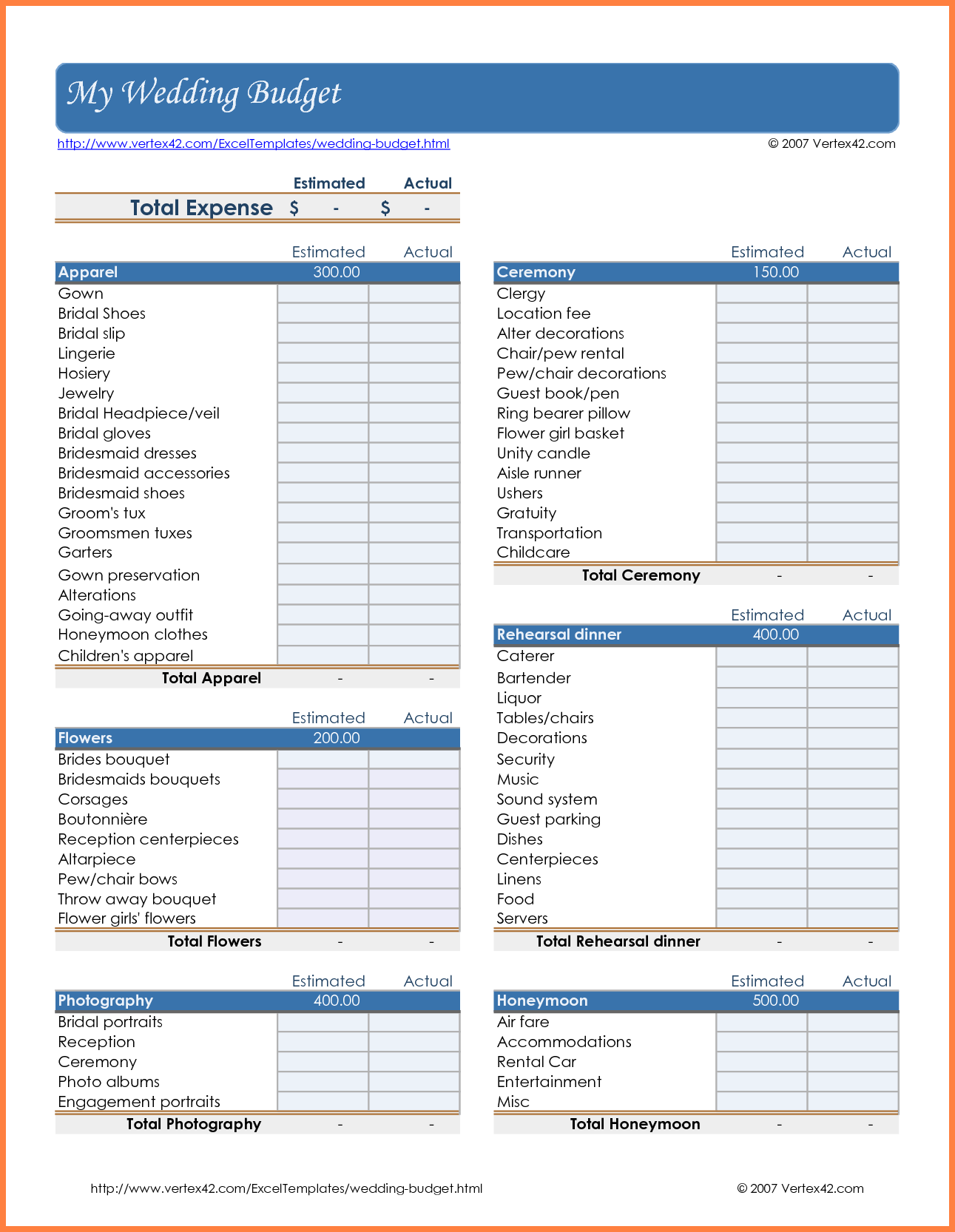 Sample Of A Church Budget Spreadsheet Spreadsheets