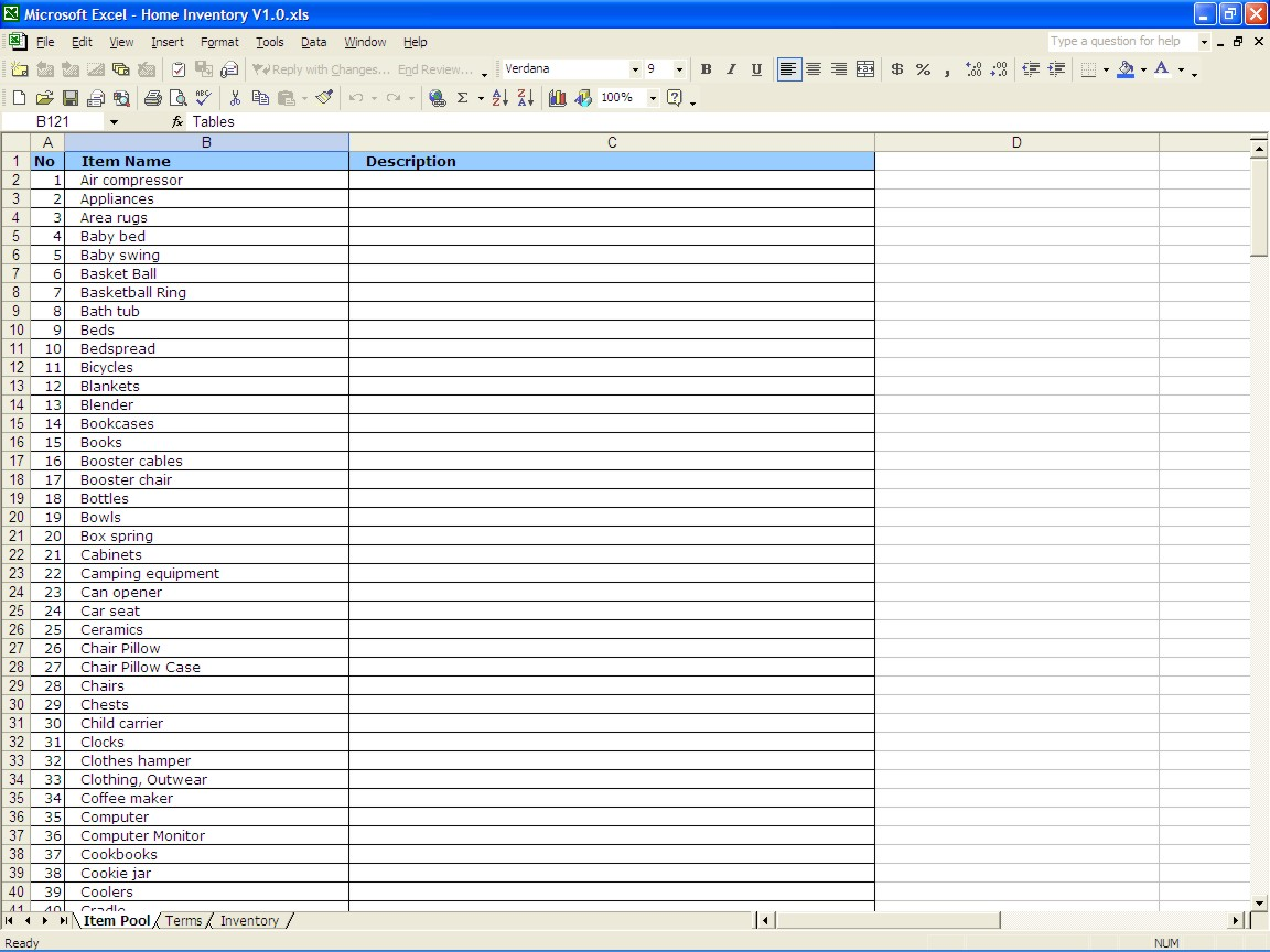 Example Of Excel Spreadsheet