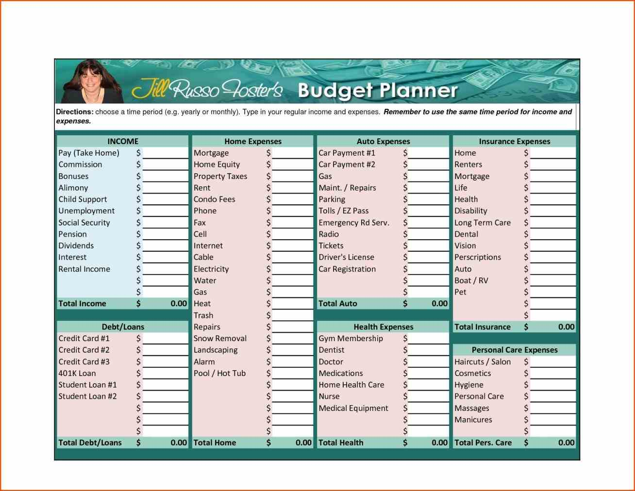 Household Expenses Template Excel Spreadsheets