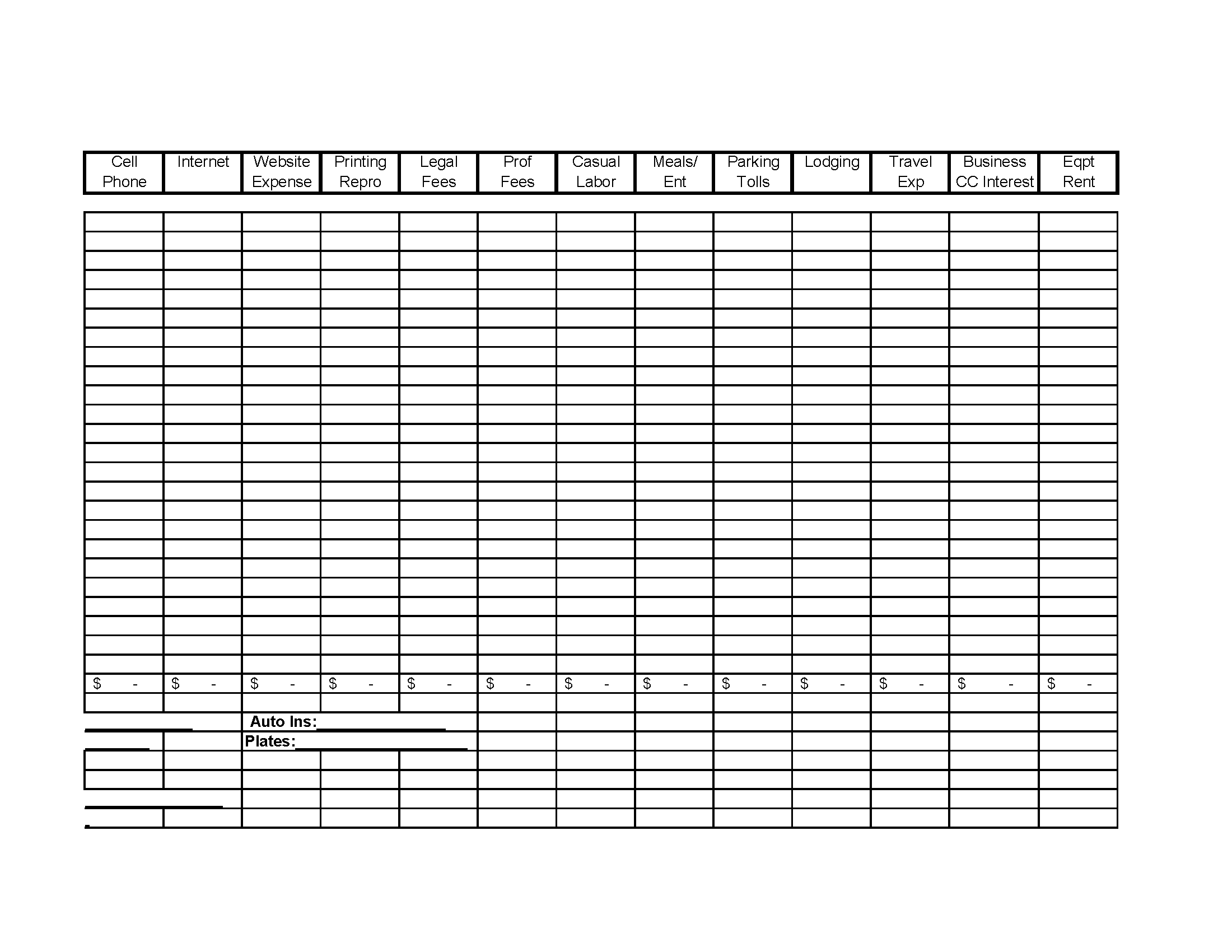 Free Business Income And Expense Spreadsheet Spreadsheets