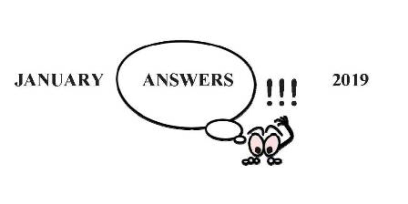 Jim S January Garden Quiz Answers