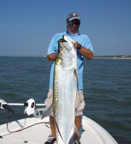 Capt. Dan with a 100# Indian Pass Tarpon