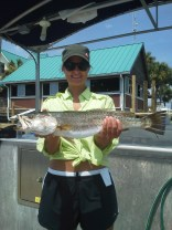 She caught a big Speckled Trout in St. Joe Bay!