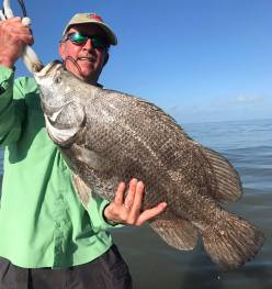 huge triple tail, fishing charters, indian pass