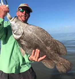 huge triple tail, fishing charters, indian pass