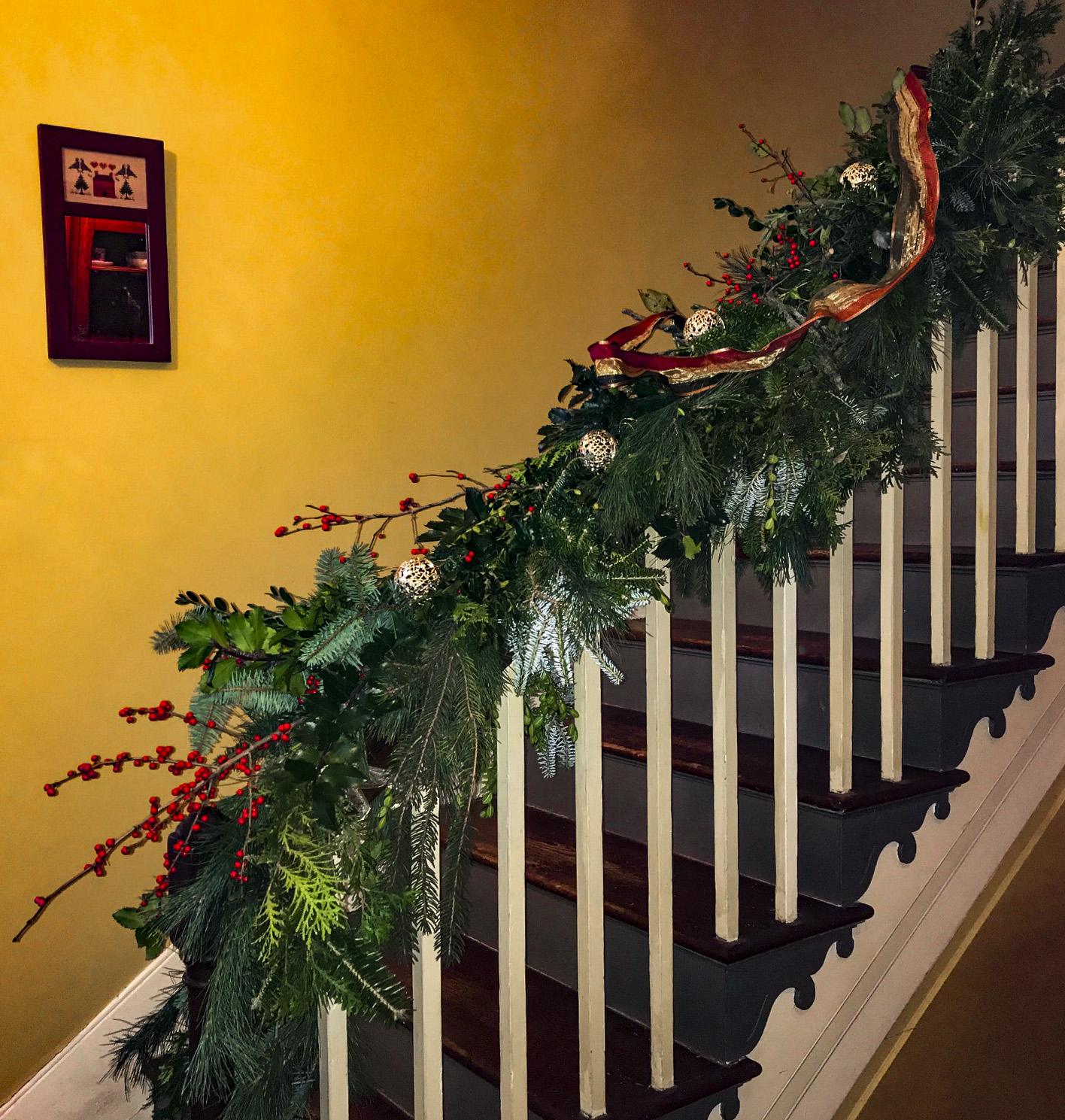 Christmas Garland Staircase Side Perfect Christmas Tree Farm