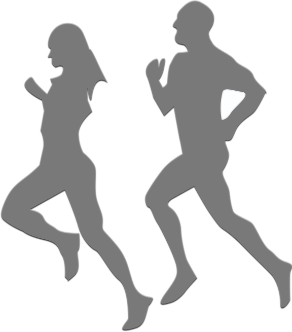 silhouettes-of-running-man-and-woman