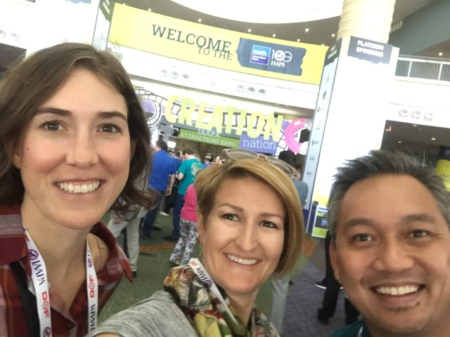perfect game marketing team smiling at iaapa 2017