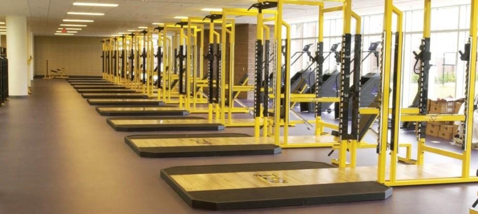 YORK STS Yellow Power Racks